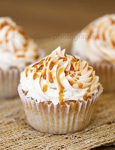 Caramel Apple Pie Cupcakes are very creative way how to pack rich, apple flavor inside the tasty cupcakes.