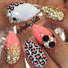 Stephanie Loesch @_stephsnails_ CC #coralcheetah#...Instagram photo   Websta (Webstagram)