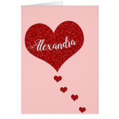 Happy Valentine's Day Custom Name Card - Saint Valentine's Day gift idea couple love girlfriend boyfriend design