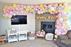 Baby Doll Party Theme - For Little Miss Ivy Lynnkins Birthday! - Making Things is Awesome 2nd Birthday Parties, Baby Birthday, Birthday Party Decorations, Birthday Ideas, Ballon Arch, Arch Decoration, Super Mario Party, Cute Baby Dolls, Doll Party