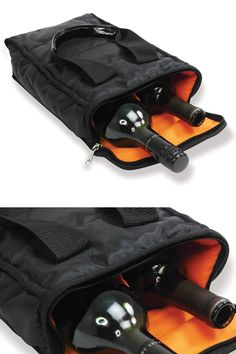 2 Bottle Insulated Wine Tote: Protect And Keep Cool. A Safe And Easy Way To Transport Wine Bottles.