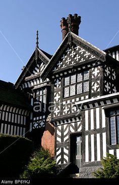 England, Cheshire, Stockport, Bramhall, Bramall Hall, Elizabethan ...