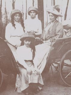 Empress Alexandra Feodorovna with three of her daughters