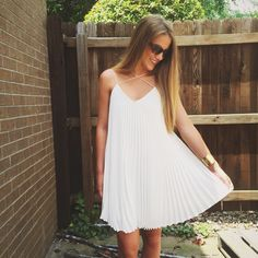 Pretty {pleats}, buy me this dress!    To order, call us at 4794342318!
