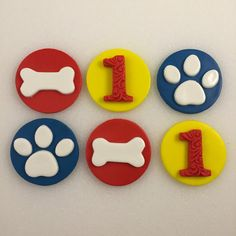 Paw Print Dog Bones Inspired by Paw Patrol by KedulceSugarDesigns
