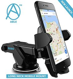 Universal Car Mobile Holder/Long Neck One Touch Car Mount Rotation with Ultimate Reusable Suction Cup for Car Dashboard/Car Windshield/Desktop Dashboard Phone Holder, Dashboard Car, Cell Phone Holder, Mobile Stand, Mobile Holder, Car Mount Holder, Car Holder, Car Phone Mount, Best Cell Phone