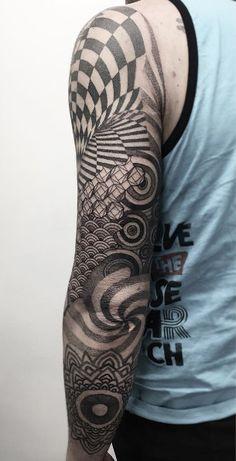 Geometric sleeve by Zeke Yip