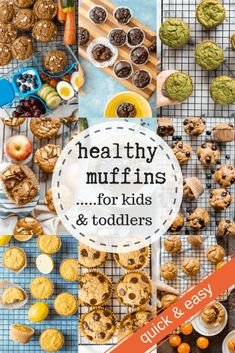 These 15 healthy muffin recipes for kids will change breakfast! These Healthy Muffins for Kids are not only delicious and easy to make for breakfast, but also work Healthy Muffins For Kids, Healthy Breakfast For Kids, Healthy Cupcakes, Healthy Breakfast Muffins, Healthy Muffin Recipes, Healthy Toddler Meals, Kids Meals, Healthy Snacks, Breakfast Recipes