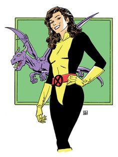 """deankotz: """"Kitty Pryde and Lockheed """" Marvel Comics, Marvel Comic Universe, Marvel Heroes, Marvel Women, Marvel Avengers, Kitty Pryde, Comic Books Art, Comic Art, Female Avengers"""