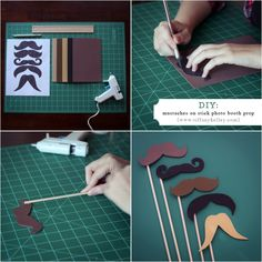 DIY Mustache on a stick