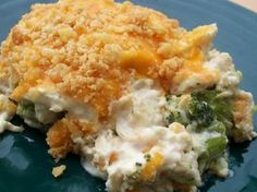 Chicken Divan Casserole. I made this last night and it was awesome! Much better then using Campbell's soup.