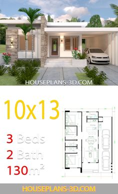 Tiny house is ready for shipping House Design with 3 Bedrooms Full Plans i. Tiny house is ready for shipping House Design with 3 Bedrooms Full Plans in 2020 . Simple House Design, House Front Design, Modern House Design, Simple Bungalow House Designs, Modern Bungalow House Plans, Small Modern Houses, Modern Bungalow Exterior, Bungalow Floor Plans, Modern House Facades