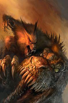 Werewolves and Dinos... Cover 2 by chrisscalf.deviantart.com on @DeviantArt