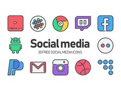 30 Free Social media Icons by Justicon