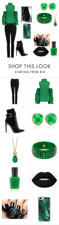 """The Green Tea Leaf"" by hazel-elizabeth-martin on Polyvore featuring AGOLDE, Danielle Guizio, Monica Vinader, Effy Jewelry, Mark Davis, Zoya and Casetify"