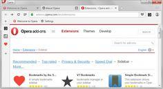 ONE: La versión 30 del navegador Opera ofrece una nueva barra lateral con soporte para extensiones