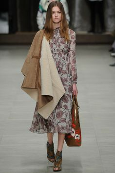 Burberry Prorsum | Fall 2014 Ready-to-Wear Collection | Style.com // # printed dress