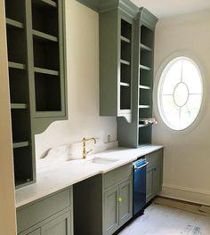 Curved backsplash and cabinet detail Kitchen Pantry, Kitchen And Bath, Kitchen Decor, Kitchen Ideas, Mudroom Laundry Room, Laundry Room Design, Utility Room Inspiration, Stuart House, Shaker Style Cabinets