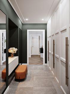Hall Wardrobe, Neoclassical Interior, Walk In Closet Design, Modern Ottoman, Home Interior Design, Design Interiors, Interior Ideas, Entrance Hall, Decoration