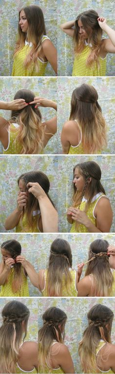 Easy half up braid