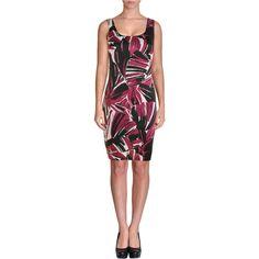 AQUA.  Purple Sleeveless Floral Print Bodycon Dress. Taille Medium.
