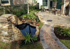 Beautifully designed patio w/pond~...HAVE A PEEK AT MY 'PATIOS' ALBUM 4 LANSCAPING W/PATIOS~