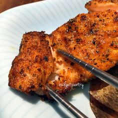 Airfried Cajun Salmon - rub both sides with season, 7 min 180*C, skin side up