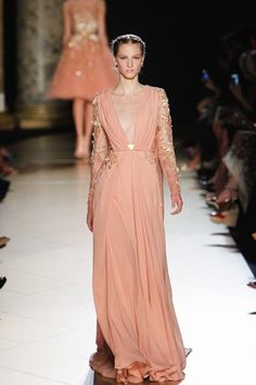 Crete/Greece - Elie Saab at Haute Couture Fashion Week Paris: A/W 2012-2013- Grecian Gown