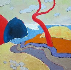 Landscapes in Private Collections   10: Fauvist Modern Milton Avery Primitive Naive Art Abstracted Landscapes Stilllifes : JILL FINSEN PAINTINGS