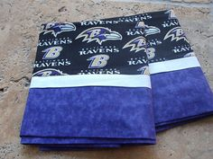 Baltimore Ravens Pillowcase by treehavenquilts on Etsy, $17.00