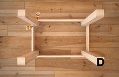 四足ローテーブルの作り方/インテリアDIY
