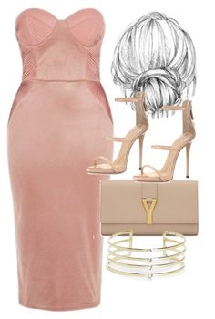 """Untitled #4660"" by olivia-mr ❤ liked on Polyvore featuring Rare London, Giuseppe Zanotti, Yves Saint Laurent and Boohoo"