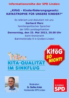 Die nächste Infoveranstaltung der SPD Linden findet statt am 23. Mai 23 Mai, Gerhard, Politics