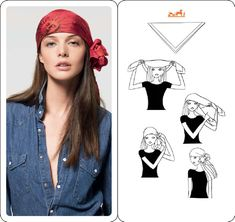 """Hermès """"Pirate Fleur"""" scarf technique. May need this in case of Halloween party. Pirate maybe????"""