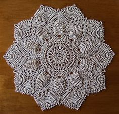 Crochet pinapple doily. Design by Patricia Kristoffersen by miranda