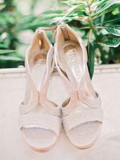 Matte Silver Glitter Bridal Heels   photography by http://amyarrington.com