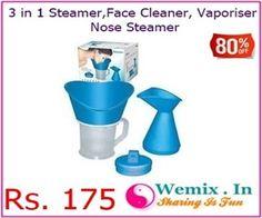 3 in 1 Steamer,Face Cleaner, Vaporiser and Nose Steamer Rs 175