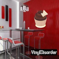 Cupcakes COLOR AL003 vinyl decal car or wall sticker