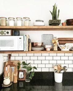 Inspiratieboost: stoere houten planken in de keuken - Roomed