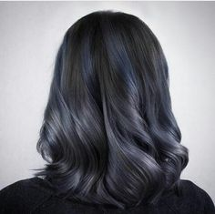 Cool Tone Hair Colors, Hair Colour, Black And Silver Hair, Makeup Eye Looks, Hair Reference, Girl Short Hair, Long Bob, Brunette Hair, Hairstyles Haircuts
