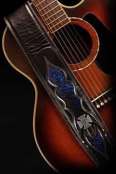 Leather Guitar Strap Custom Guitar Strap : by EthosCustomBrands
