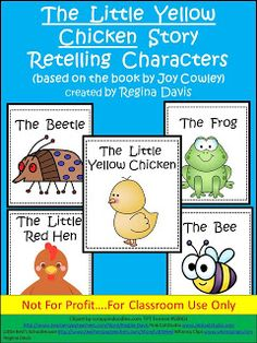 FREE! Fairytales And Fiction By 2...The Little Yellow Chicken Story Retelling Characters