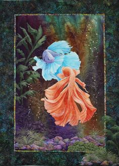 """Shall we Dance?"", 28"" x 39"", by Jan Reed. Mountain Art Quilters: March 2015."