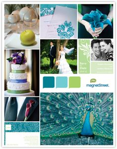 color pallette for peacock room Wedding Theme Inspiration, Wedding Themes, Color Inspiration, Wedding Colors, Wedding Styles, Our Wedding, Dream Wedding, Wedding Stuff, Wedding Advice