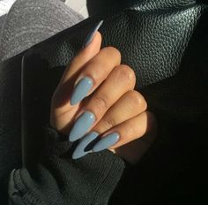 Imagem de nails, blue, and beauty