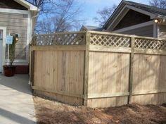 Lattice Privacy Fence Design
