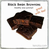 #glutenfree (flourless), sugar-free, dairy-free #recipe for  black bean #brownies. So easy and they taste great!
