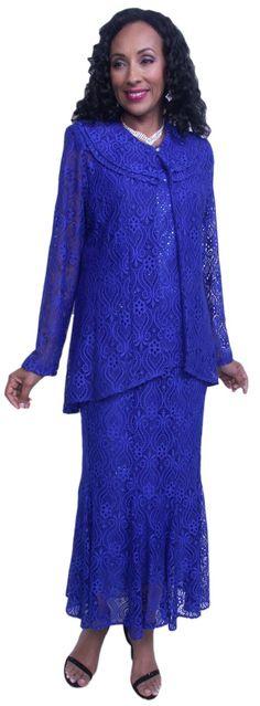 Hosanna 3583 Royal Blue Plus Size Lace Tea Length 3 Piece Dress Set Mother Of The Bride Dresses Long, Mothers Dresses, Banquet Dresses, Dressy Dresses, Evening Dresses Plus Size, Plus Size Dresses, Duster Dress, Royal Blue Dresses, Gowns With Sleeves