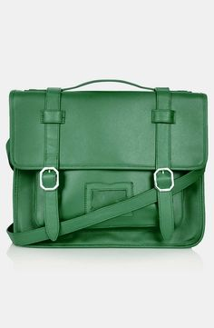 "TOPSHOP ""Mary"" Satchel in Green | #christmas #fashion #style #holiday #xmasfashion #xmas"