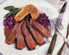 Mustard-Glazed Ostrich Fillet with Berry Marmalade Sauce Recipe (Photo courtesy of Tom Eckerle) Sauce Recipes, Meat Recipes, Ostrich Meat, Potato Croquettes, Berry Sauce, Wild Game Recipes, Round Cakes, Marmalade, Berries